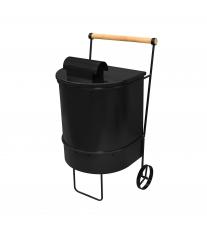 Контейнер для сжигания мусора с трубой (листьев, травы, веток) на даче большой.